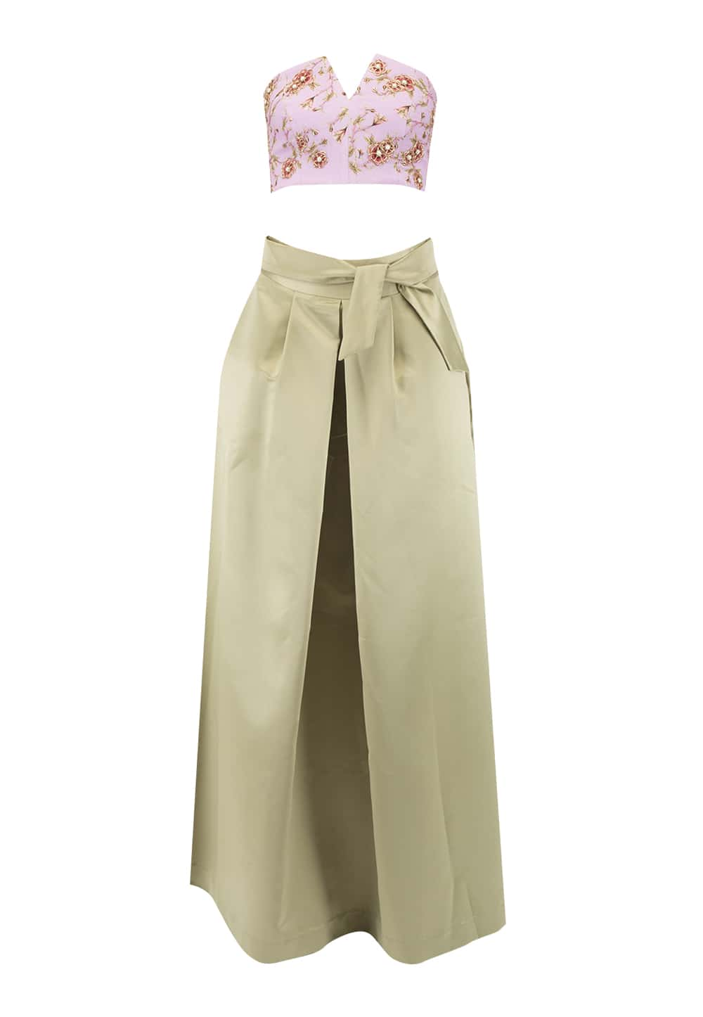Mauve And Olive Green Skirt Top Available Only At Ibfw Petal