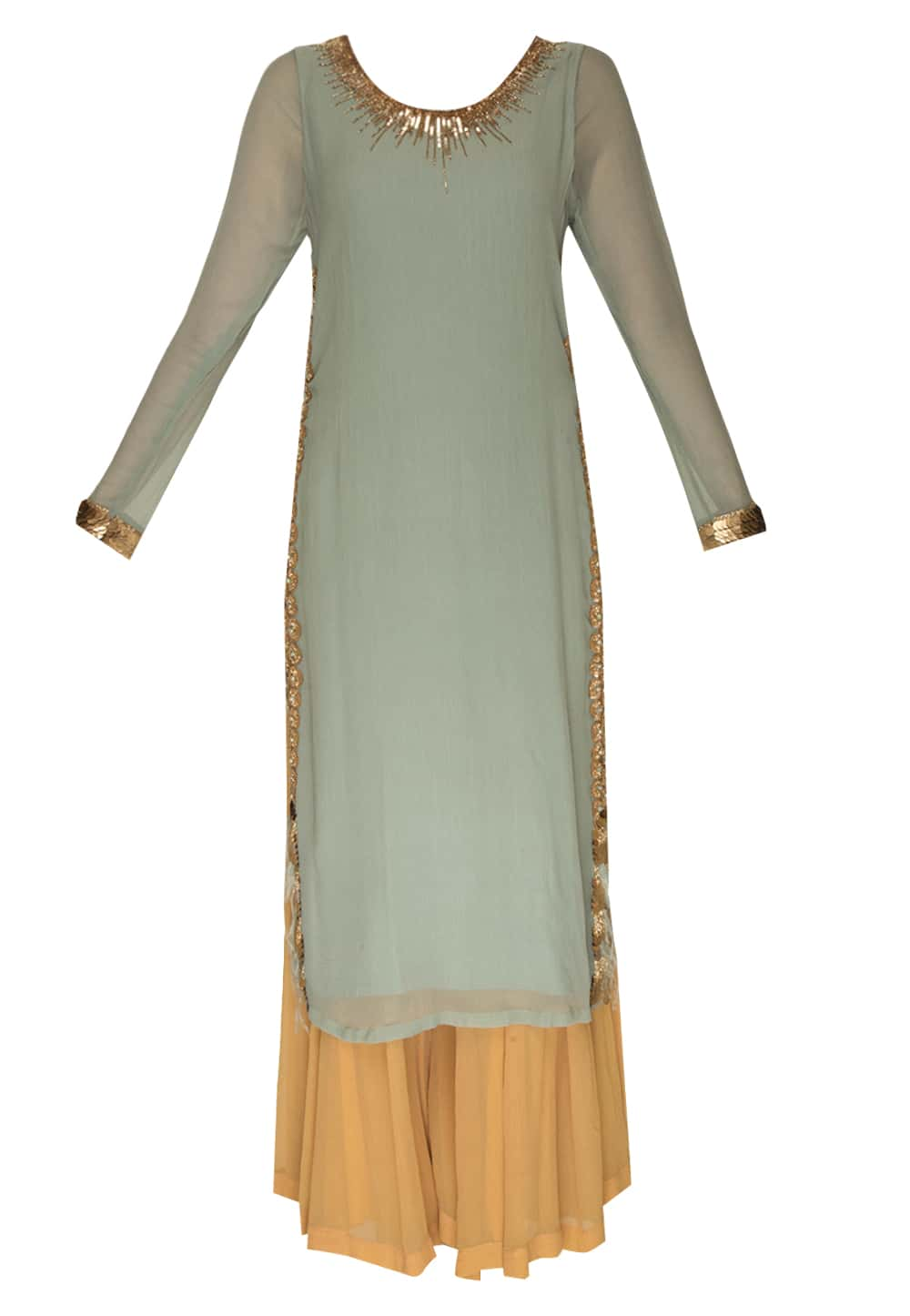 cae38a4b4d5c4a Dull blue straight kurta and sharara pants available only at IBFW
