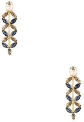 22K Gold Plated Montana Blue and Topaz Earrings