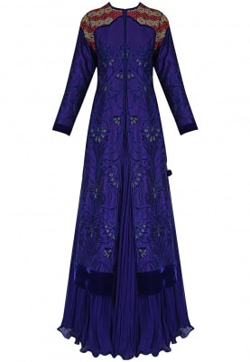 Mid-Night Blue Lehenga & Jacket