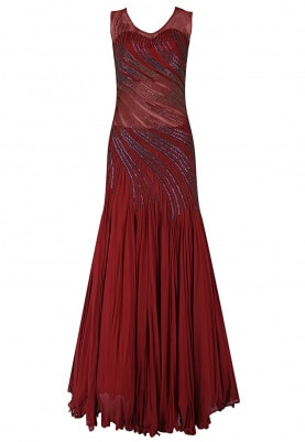 Maroon Gown