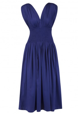 Indigo Smoked Midi Dress