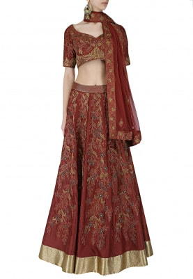 Red Lehenga Choli Set