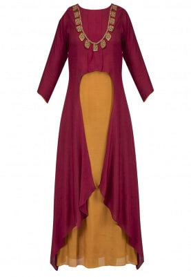 Golden Inner With Maroon Upper Shrug