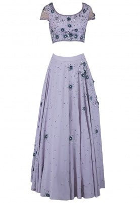 Lilac Misty Meadow Lehenga Set