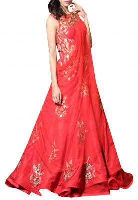 Red Drape Gown