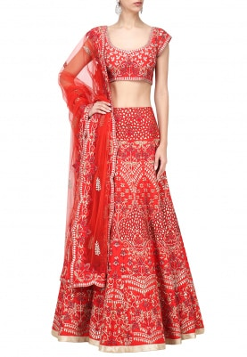 Orange Lehenga Choli Set