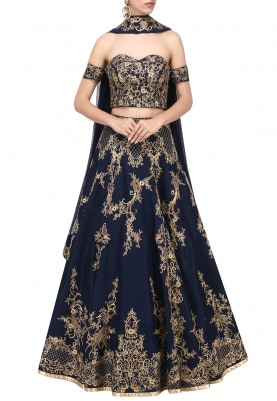 Mid-Night Blue Lehenga Choli Set