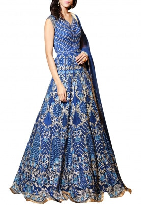 Emerald Blue Anarkali Gown