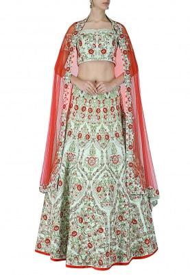 Aqua Green Lehenga Choli Set