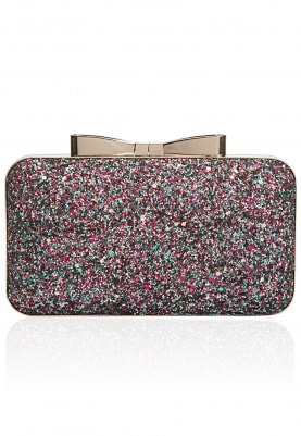 Multi Color Glitter Box Clutch