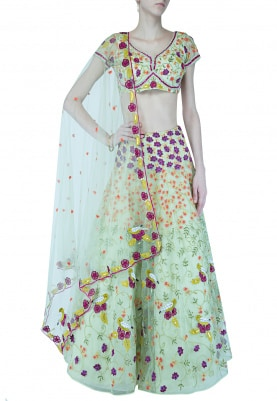 Heavy Hand-Embroidered Lehenga Set