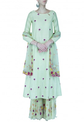 Sharara, Kurta & Dupatta Set