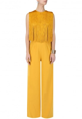 Yellow Fringe Tasseled Jumpsuit