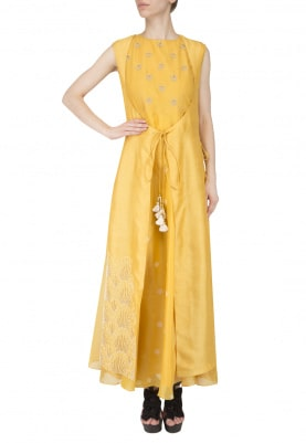 Yellow Gown and Jacket
