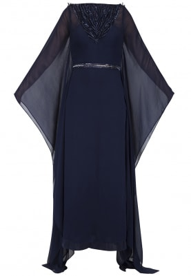Midnight Blue Embroidered Kaftan