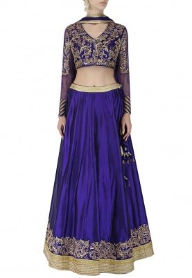 Blue Lehenga Choli and Dupatta Set