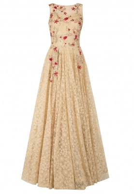 Gold Embroidered Gown