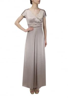 Box Pleated Gathered Belt Dress