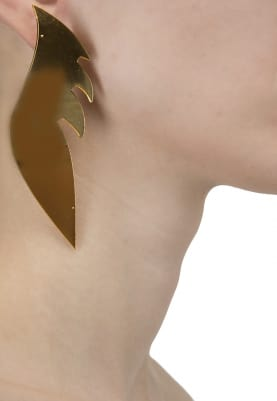 22K Gold Plated Wing Earrings