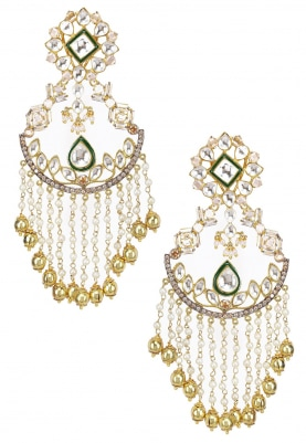 22k Gold Plated Kundan and Baby Pearls Earrings