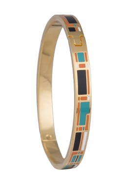 Gold Plated Geometric Design Narrow Bracelet