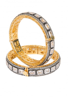 Antique Finish Cz Stones Kada