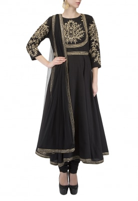 Black Anarkali Kurta