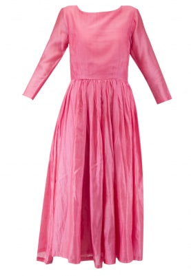 Pink Maxi Dress & Dupatta