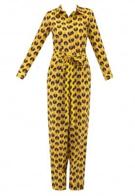 Yellow Block Printed Jumpsuit