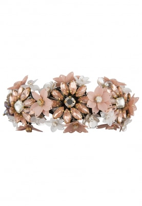 Crystal and Sequins Embellished Floral Hairband