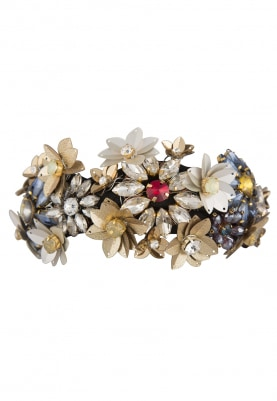 Multicolor Crystal and Sequins Embellished Floral Hairband