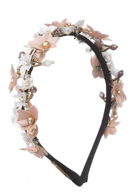 Multicolor Crystal, Sequins and Beads Embellished Floral Hairband