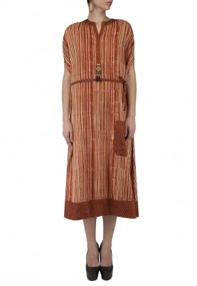 Rust Striped Tunic
