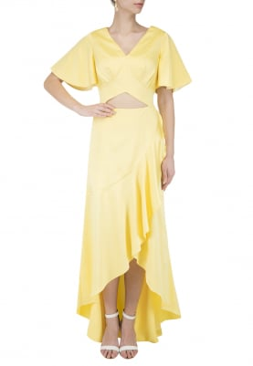 Sunshine Yellow Flare Day Gown