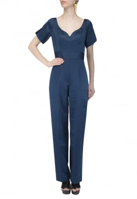 Peacock Blue Jumpsuit