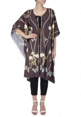 Black Printed Kaftan