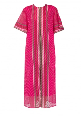 Fuscia Pink Printed Dress