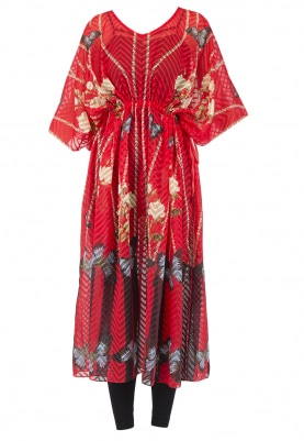 Hot Pink Printed Kaftan