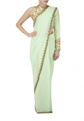 Pistachio Sari and Blouse