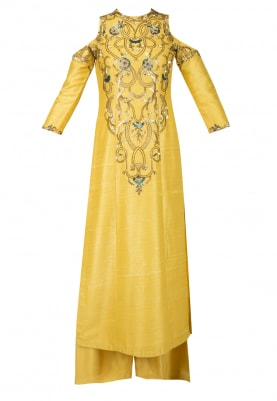 Amber Yellow Kurta and Palazzos