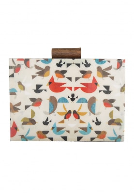 White Base Multicolor Chirping Birds Clutch
