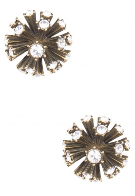 Black Antique Finish Spiked Earrings