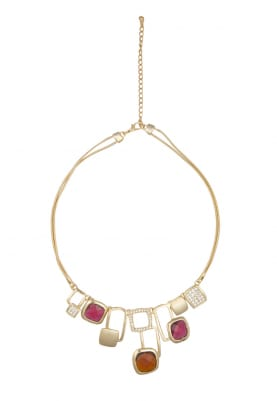 Gold Plated Swarovski Crystal Geometric Necklace