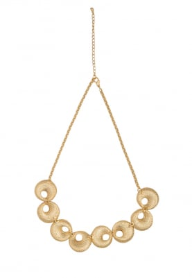 Gold Plated Textured Necklace