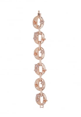 Rose Gold Plated Oval Bracelet