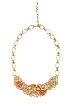 Gold Plated Floral Necklace