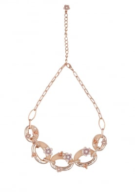 Rose Gold Plated Swarovski Crystals Necklace