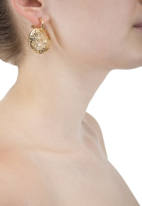 Gold Plated Swarovski Crystal Circular Earrings