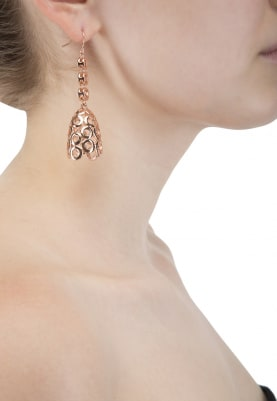 Rose Gold Plated Swarovski Crystal Studded Earrings